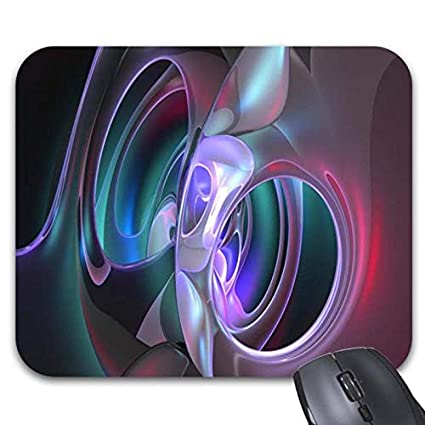 Elegant Abstract Purple Pink Pattern Mouse Pads   Stylish Office Accessories  (11.89 X 9.86in
