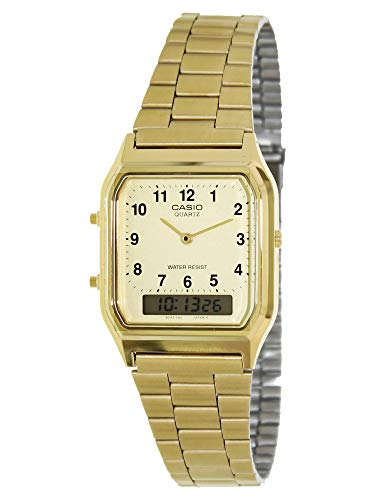 Casio Men's AQ-230GA-9D Gold Analog & Digital with Index Watch (Casio Gold Watch For Men)