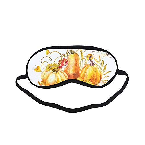 All Polyester Pumpkin Vegetable Organic Decorative Crop Painting Art Sleeping Eye Masks&Blindfold by Simple Health with Elastic Strap&Headband for Adult Girls Kids and for Home Travel