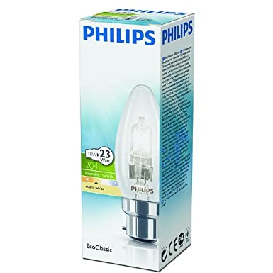 X10 42w Candle B35 Bc B22 Dimmable Halogen Energy Saver 42w = 55w Light Bulbs 220 240v  Philips Ecoclasic 30 by Philips