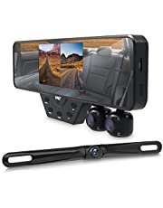 Pyle Newest Technology HD 3 Camera Dash Cam Rearview Mirror Backup Camera