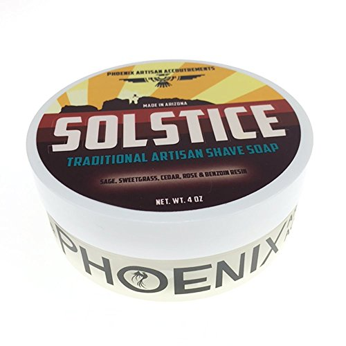 Solstice Luxury Shaving Cream Soap - Phoenix Artisan Accoutrements - 4oz by Phoenix Artisan Accoutrements