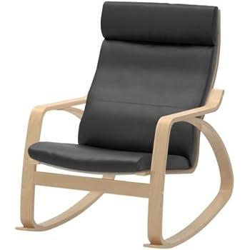 Amazon Com Ikea Rocking Chair Birch Veneer Frame Black