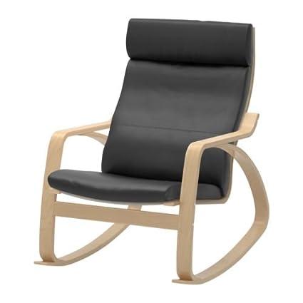 Fantastic Amazon Com Ikea Rocking Chair Birch Veneer Frame Black Inzonedesignstudio Interior Chair Design Inzonedesignstudiocom