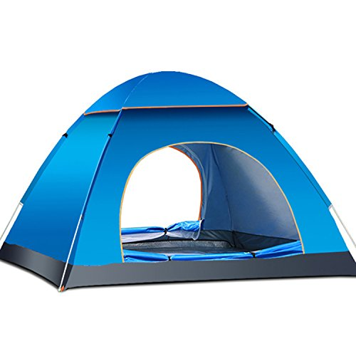 Famous Juggle 2-3 Person Camping Tent,Multi color optional & 2 seconds speed-open tent (Blue)