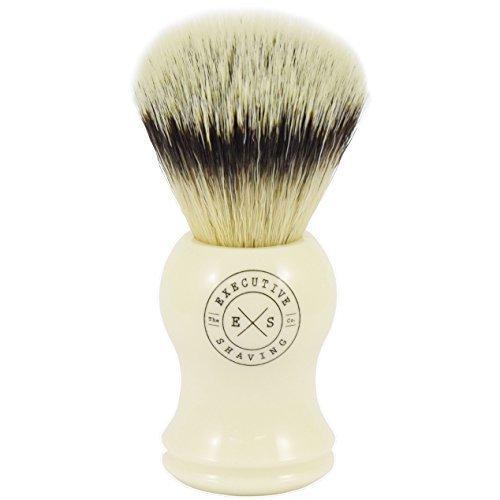 Executive shaving fibra sintética cerdas Brocha de Afeitar