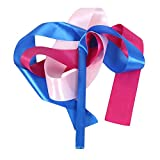 2 Pcs Kids Dance Streamers Dance Ribbon Dancing Props / Blue&Rose&Pink