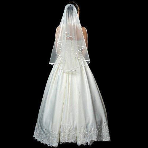 Two Tier White Bridal Veil, Veil For Wedding