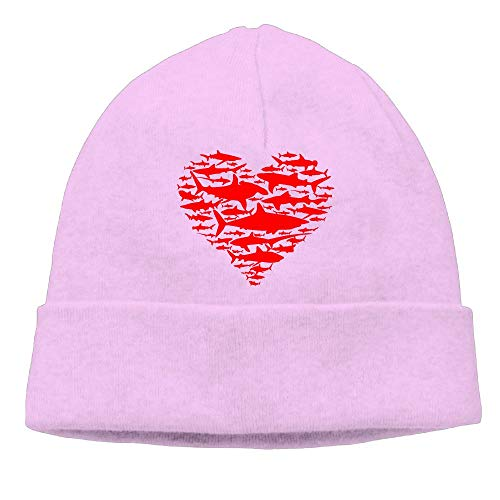 Love(Heart) Sharks-1 Men/Women Thick Surf Beanie Hat -
