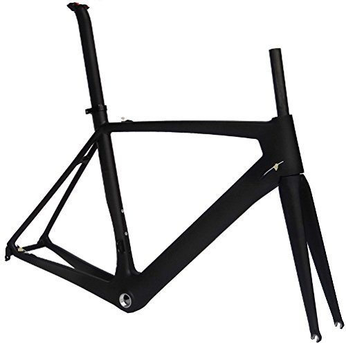 Full Carbon Matt 700c Road Bike Cycling BSA Frame Fork Seatpost Clamp - Frame Road Carbon Full