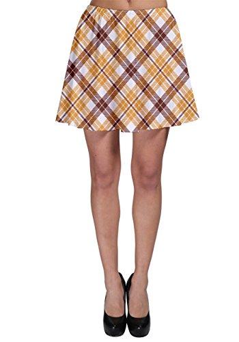 Plaid Skater Skirt, Brown Plaid - 3XL (Brown Plaid Skirt)