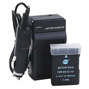 Amazon.com: Batería DSTE en-el14 + DC111 Viaje y cargador de ...