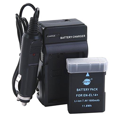 DSTE EN-EL14 Battery + DC111 Travel and Car Charger Adapter for Nikon D5100 D5200 D5300 D5500 DF P7000 P7100 P7200 P7700 P7800 D3400 Digital Camera as EN-EL14A