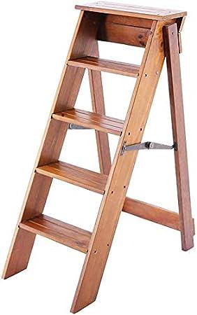 XIN Escaleras multiusos para niños Taburete de madera maciza Escalera plegable de madera maciza para el hogar Escalera de engrosamiento interior Escalera de cinco escalones Decoración Gabinete famili: Amazon.es: Bricolaje y herramientas