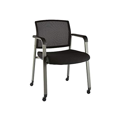 Staples 2707824 Esler Mesh Guest Chair with Casters Black (51239)