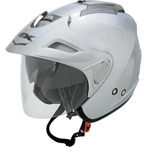 AFX FX-50 Unisex-Adult Open-Face-Helmet-Style Helmet (Silver, - Fx Helmets 20 Afx