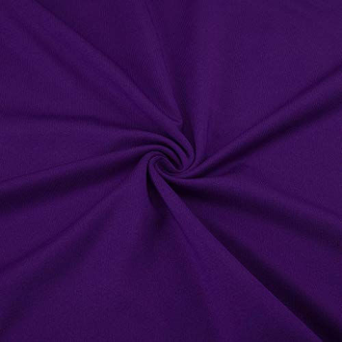 Plain Tunic V Long Tops Pleated Wrap Slim Sizes Sleeve Women's New Plus 22 Blouse Hem 8 Shirt Neck T Viahwyt 2018 Purple Autumn UK Fit I7fOYY