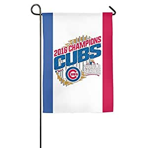 Chicago 2016 World Series Champions One-Sided,Decorative Nylon Home Garden Flags 18*27inch