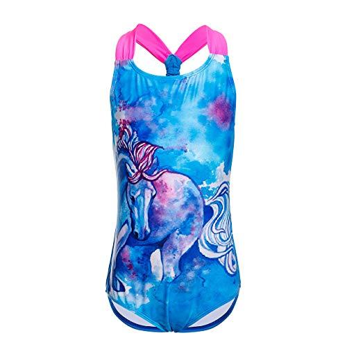 DAYU Girls' Fantasy Horse Racerback One Piece Swimsuit