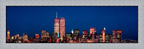 New York City Skyline with World Trade Center by Panoramic Images Framed Art Print