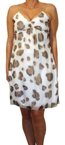 """Waooh - Mode - kurzes Kleid """"MIMY"""" mit Leopardenmuster - weiß"""