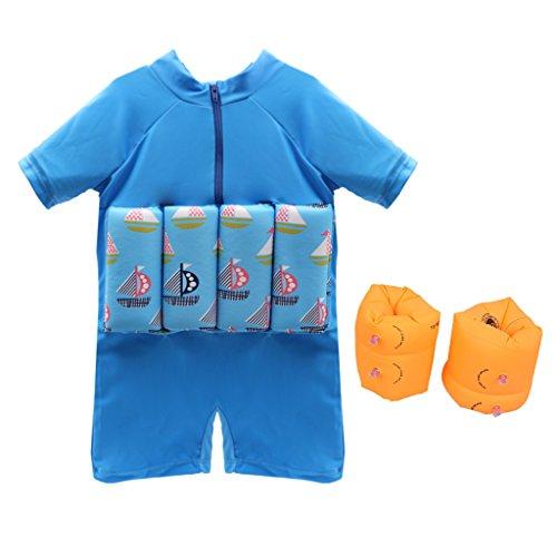 Swimwear Flotation (Boys Flotation Swimsuit Buoyancy Detachable Swimwear for Baby Learn to Swim)