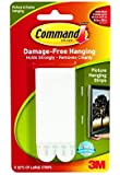 Command Large Picture-Hanging Strips, White, 4-Strips, 2-PACK