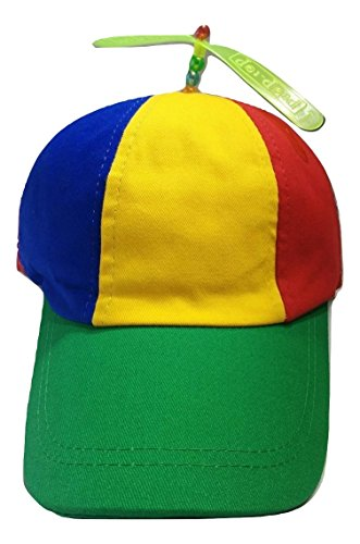 Adult Novelty Cap - Nicky Bigs Novelties Multi-Color Propeller Ball Cap, Multi, One Size