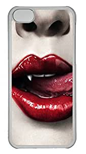 Cases For iPone 5C - Summer Unique Cool Personalized Design Transparent Red Sexy Lips by Maris's Diary