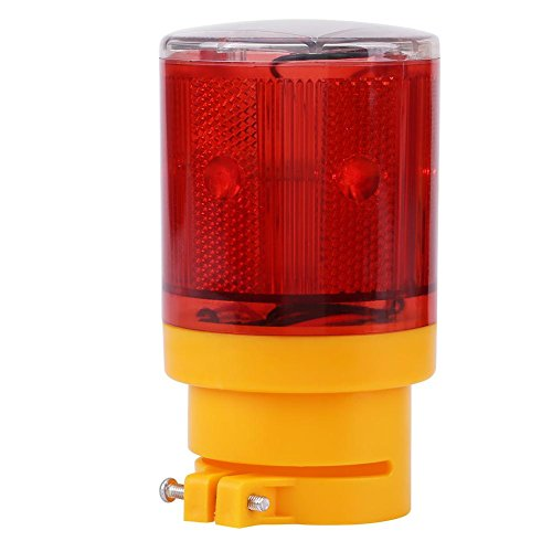 Warning Light, 1pc Solar LED Emergency Warning Flash Light Alarm Lamp Traffic Road Boat Red Yellow Light(Red)