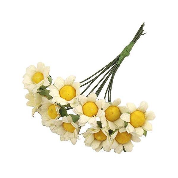 MARJON Flowers10x Mini Daisy Flower Bunch! Cards Craft Accessories Hats Artificial Silk Fake
