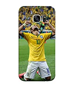 ColorKing Football Neymar Brazil 04 Multi Color shell case cover for Samsung S7 Edge