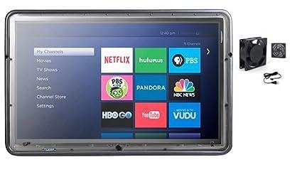 The TV Shield 43 50u0026quot; Outdoor TV Cabinet   Weatherproof, Lightweight,  Durable