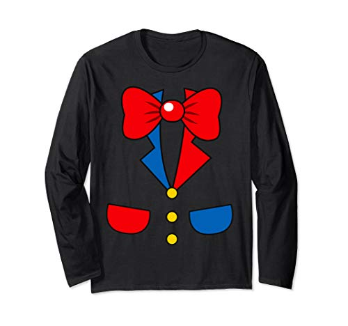 Funny Halloween Costumes Office (Funny Clown Halloween Costume School Office Night Party Tee Long Sleeve)