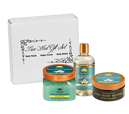 Tree Hut Coconut Lime Gift Set, 3 Piece, Body Butter, Body Wash, Sugar Scrub