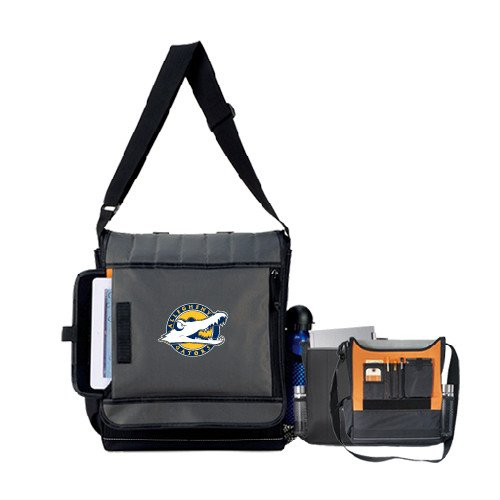 Allegheny Impact Vertical Black Computer Messenger Bag 'Official Logo' by CollegeFanGear