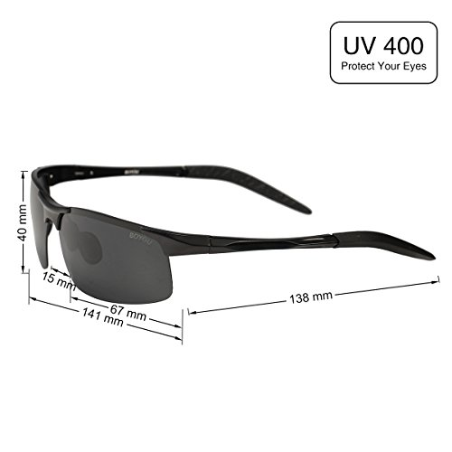 BOYOU sol verano aire los de de sol polarizadas gafas gafas al sol de los Negro libre para hombres de hombres gafas de zBzrPqwxH