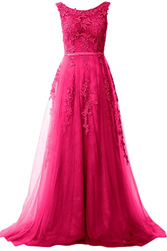 Neck Lace Prom Vintage Fuchsia Women Formal Gown Party Macloth Dress Boat Long Evening xE0na