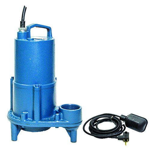 Barnes 103542 Model EHV412A Submersible Effluent Pump with Piggyback Mechanical Float Switch, 1/2 hp, 115V, 1 Phase, 2