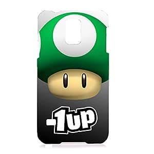 Mario 1 UP Mushroom Popular Hard Phone Case for Samsung Galaxy S5 I9600
