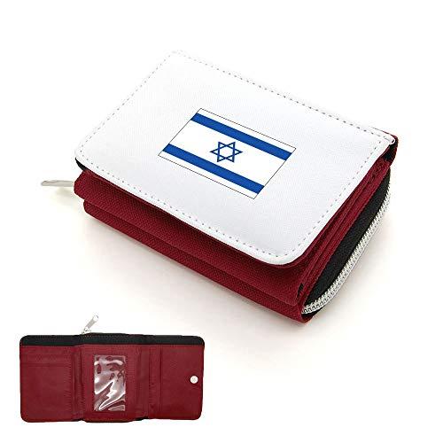 Rabat Drapeau monnaie Mygoodprice Portefeuille Israel Porte Rouge À pqEEwxXga
