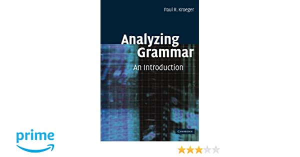 Read e-book Analyzing Grammar: An Introduction (Cambridge Textbooks
