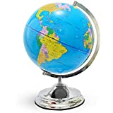 Illuminated Kids Globe with Stand – Educational Gift with Detailed World Map and LED Night Light (Power Cord Included)