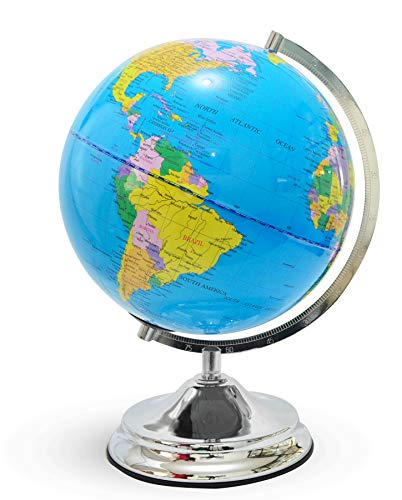Illuminated Kids Globe with Stand – Educational Gift with Detailed World Map and LED Night Light (Power Cord Included) by Home Premium