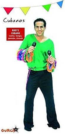 Guirca Disfraz de Cubano / Rumbero / Salsero. Talla única de Hombre. Incluye: Pantalón, Camisa y Cinta de Cintura.: Amazon.es: Juguetes y juegos