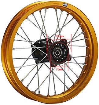 Hmparts Alu Felge Eloxiert 14 Zoll Hinten Gold 12 Mm Typ2 Pit Bike Dirt Bike Cross Auto
