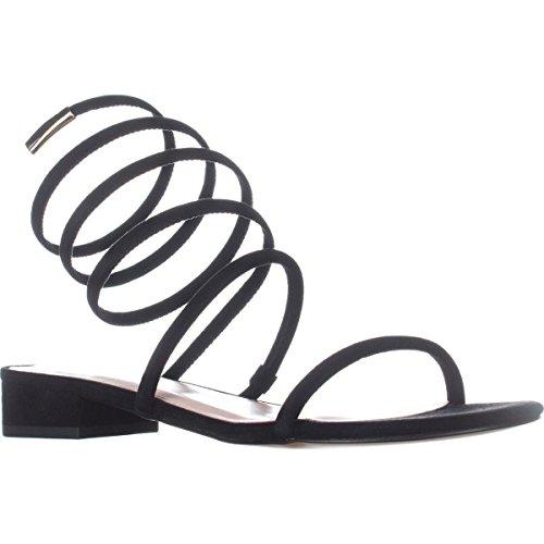 Filles Open Womens Ankle Sandals Strap Toe Avec Black Caila Casual Les O5qwAI