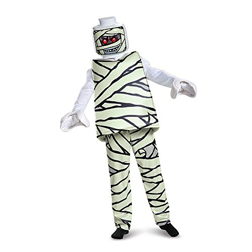 Disguise Lego Mummy Deluxe Costume, White, Large (10-12) -