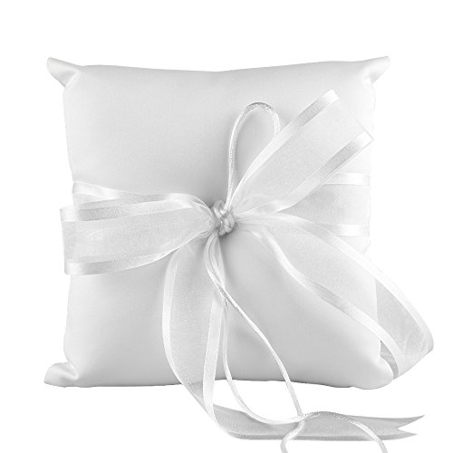 Ivy Lane Design Wedding Accessories Simplicity Ring Pillow, White