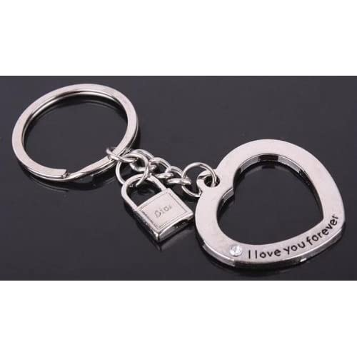1fd32a2485 new Cookids Romantic True Love Lock & Key Couple Keychain Metal Boy Girl  Love Lovers Sweethearts